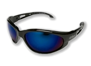 "Edge ""Dakura"" Eyewear Black Frame / Blue Mirror Lens"