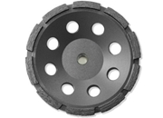 "7"" BN Products SR650 Single Row Diamond Grinding Cup Wheel, Threaded Arbor"