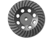 "7"" BN Products TR650 Turbo Row Diamond Grinding Cup Wheel, Threaded Arbor"