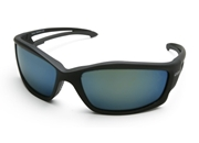 "Edge ""Kazbek"" Eyewear Black Frame / Polarized Aqua Blue Precision Lens"