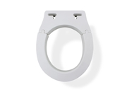 MedGear Tool-Free Removable Elevated Toilet Seat, Rounded
