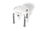 MedGear Tool-Free Adjustable Round Assisting Bath or Shower Stool