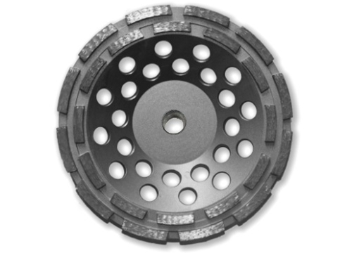 "7"" BN Products DR650 Double Row Diamond Grinding Cup Wheel, Threaded Arbor"