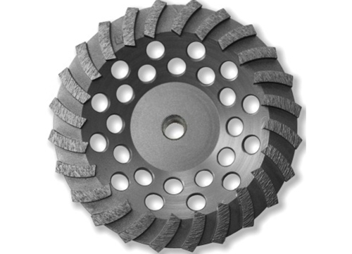 "7"" BN Products WR650 Swirl Row Diamond Grinding Cup Wheel, Threaded Arbor"