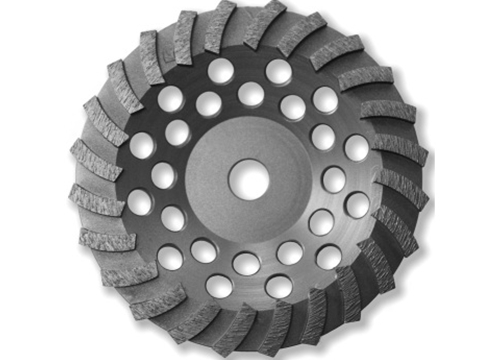 "7"" BN Products WR650 Swirl Row Diamond Grinding Cup Wheel"