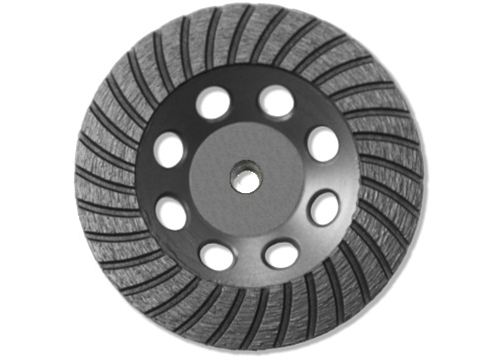 "4"" BN Products TR650 Turbo Row Diamond Grinding Cup Wheel, Threaded Arbor"