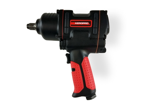 "AEROPRO USA 1/2"" Heavy-Duty Twin Hammer Air Impact Wrench"