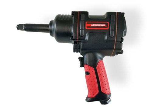 "AEROPRO USA 1/2"" Heavy-Duty Twin Hammer Air Impact Wrench, 3-inch Anvil"