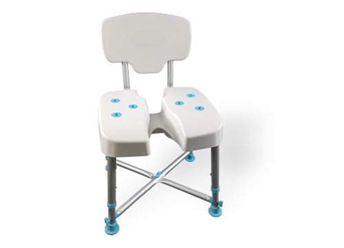 MedGear DURA Hygienic Cutout Shower Chair with Back Rest